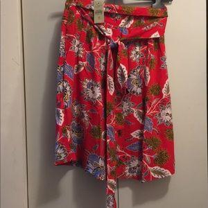 daa8df3c73 LOFT Skirts | Nwt Summer Blossom Tie Waist Midi Skirt | Poshmark